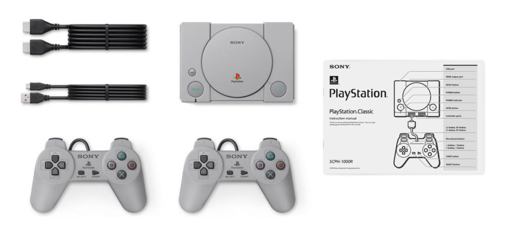 console-sony-playstation-classic-composition-manettes-cables