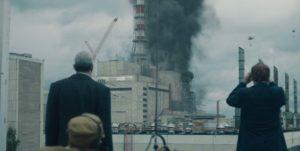 Chernobyl - Valery Legasov et Boris Tcherbina observent le feu dans la centrale nucléaire