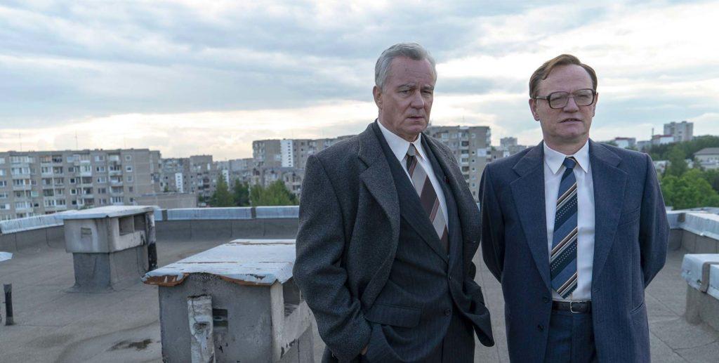 Chenrobyl série sur OCS - Les deux protagonistes Valery Legasov et Boris Tcherbina